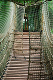 Sturdy Rope Bridge Royalty Free Stock Images
