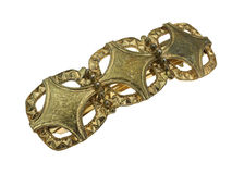 Sturdy Three Design Hair Clip. A three design rough textured sturdy hair clip from the mid 1950's Stock Photography