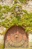 Sturdy wooden door Stock Image