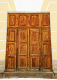 Sturdy wooden gate. Royalty Free Stock Image