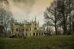 Sturdza slott i Miclauseni Rumänien royaltyfria foton