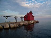 Sturgeon Bay Canal North Pierhead Lighthouse royalty free stock photo