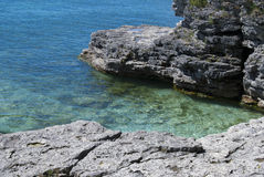 Sturgeon Bay Cove at Cave Point Park in Wisconsin Stock Photo