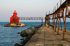 Sturgeon Bay Ship Canal Pierhead Lighthouse, Wisconsin, USA Royalty Free Stock Photography