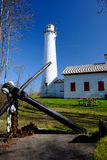 Sturgeon Point Lighthouse, built in 1869. Lake Huron, Michigan, USA Stock Photo