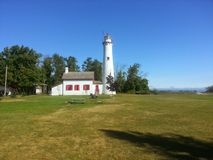 Sturgeon Point Lighthouse 1 Royalty Free Stock Photography