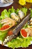 Sturgeon and seafood Stock Photos