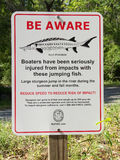 Sturgeon Warning Sign Stock Photography