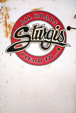 Sturgis bike rally sign Stock Photo