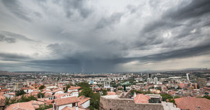 Sturm über Ankara Stockfotos