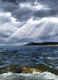 Sturm über dem Meer Lizenzfreie Stockbilder