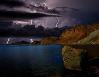 Sturm über dem Schwarzen Meer Lizenzfreies Stockfoto