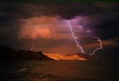 Sturm über dem Schwarzen Meer Stockbilder