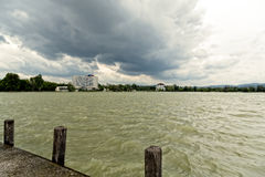 Sturm über dem See Lizenzfreie Stockfotografie