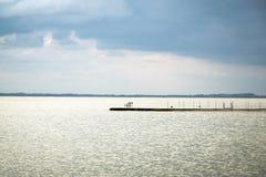 Sturm über dem See Lizenzfreies Stockfoto
