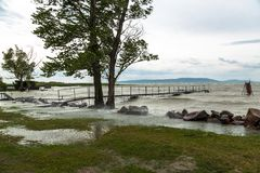 Sturm über dem See Lizenzfreies Stockbild