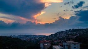 Sturm über der Stadt von Triest Lizenzfreie Stockbilder