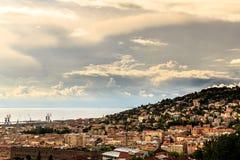 Sturm über der Stadt von Triest Stockfoto