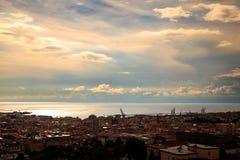 Sturm über der Stadt von Triest Stockbilder