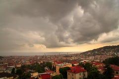 Sturm über der Stadt von Triest Lizenzfreies Stockbild