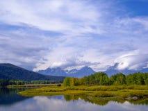 Sturm über großartigem Nationalpark Tetons Lizenzfreies Stockfoto