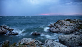 Sturm über großem See Lizenzfreie Stockfotografie
