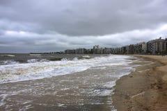 Sturm über Montevideo lizenzfreie stockbilder