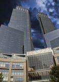 Sturm über New- York Citywolkenkratzern Lizenzfreies Stockbild