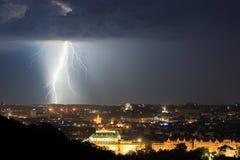 Sturm über Prag Lizenzfreies Stockbild