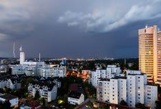 Sturm über Sachsenhausen Stockbild