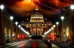 Sturm über Vatikan Stockbilder