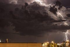 Sturm über Zagreb Stockfotos
