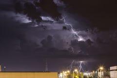 Sturm über Zagreb stockbilder
