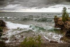 Sturm auf dem Horizont stockbild