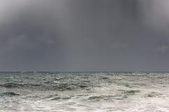 Sturm auf dem Meer Stockbild