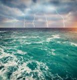 Sturm auf dem Meer Stockfoto