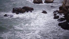 Sturm auf dem Meer im Schwarzen Meer stock footage