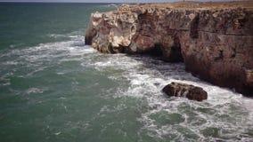 Sturm auf dem Meer im Schwarzen Meer stock video