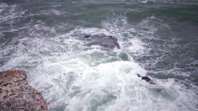 Sturm auf dem Meer im Schwarzen Meer stock video footage