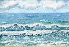 Sturm auf dem Meer lizenzfreies stockbild