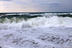 Sturm auf dem Mittelmeer Stockfotos