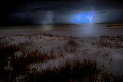 Sturm auf dem Strand Stockfoto