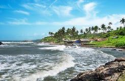 Sturm auf dem Strand Lizenzfreies Stockfoto
