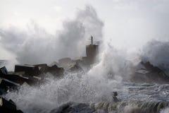 Sturm auf der Küste Stockfoto