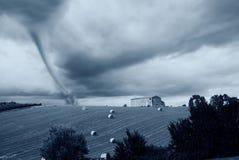 Sturm auf der Landschaft Lizenzfreies Stockbild