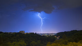 Sturm auf Genf Stockfoto