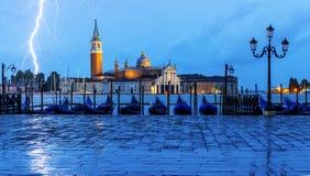 Sturm auf Venedig Stockfotos
