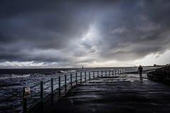 Sturm bei Seaburn lizenzfreies stockbild