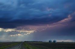 Sturm-Blitz ländliches Kanada Lizenzfreie Stockfotos