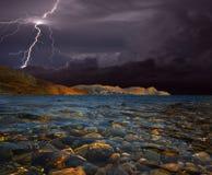 Sturm in dem Meer Lizenzfreies Stockbild